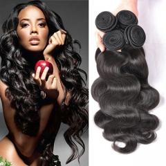 4 pieces brazilian hair bundles body wave virgin hair , 100% unprocessed human hair brazilian weaves 1b 6 6 6 6inch