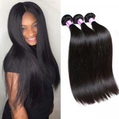 grade 7a virgin hair raw indian hair 3 bundles 1b soft and silky straight human hair weaves 1b 6 6 6inch