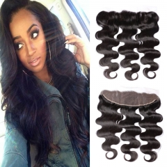 13x4 lace frontals closures brazilian human hair straight hair pieces best match with hair weaves 1b 6inch