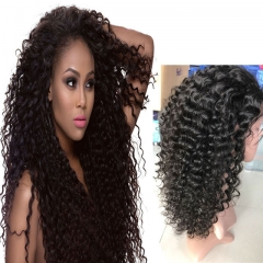100% remy human hair wigs deep wave malaysian hair wigs cheap lace frontal wigs with baby hair 1b 8inch