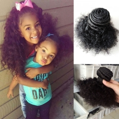 100% human hair natural color mongolian afro kinky curly hair weaves monglian remy hair 1 piece 1b 8inch