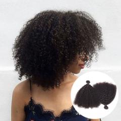 mongolian human hair 2 bundles afro kinky curly virgin hair mongolian remy human hair extensions 1b 8 8inch