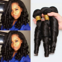 3 pieces natural color double weft indian virgin human hair extensions spring curly cheap human hair 1b 6 6 6inch