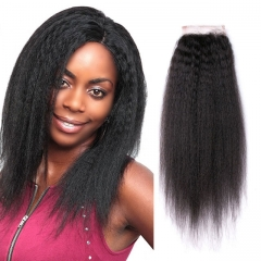 natural color cambodian human hair lace closure cambodian kinky straight hair 4x4 lace closures 1b 8inch