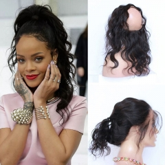 11pcs 8A Human Hair Customize Order: 6Pcs Funmi Wave Hair Weave and 5pcs Body Wave Hair 360 Closure 1b Customize Order