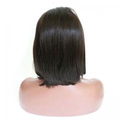 malaysian human hair lace frontal wig cheap natural straight human hair wigs 1b 8inch