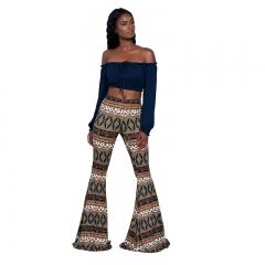 1pcs New Fashion Sexy Slim Elasticity Flares Pants Bell Bottom Legging Women Sexy Pants 1 S