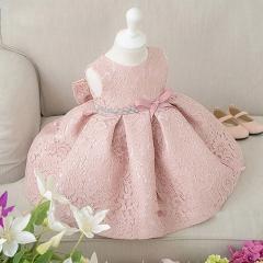 Pink Flower Girl Dress Lovely Princess Dress pink 100