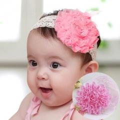 New Korean Cute Baby Hair Accessories  Flower Girl Princess Barrette x2 4