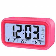Creative Clock Mute Alarm Children Night Light Bedside Clock