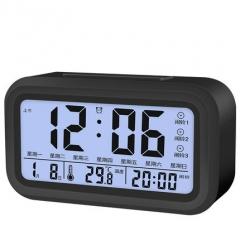 Kids Students Clock Mute Alarm Children Night Light Bedside LED Clock