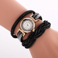 New Rhinestone  Women Watch Dress Fashion Casual Bracelet Quartz Analog Lady Watch black
