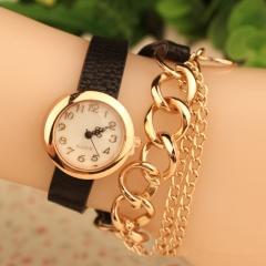 Women Watch Lady Watch Fashion Casual Bracelet Quartz Analog Watch black