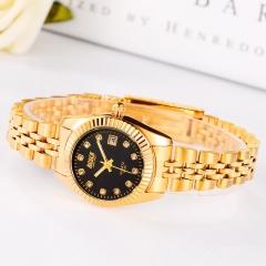 Beautiful Watch Lady Watch Fashion Quartz Analog Golden Watch black