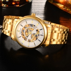 Waterproof Watch Man Watch Fashion Mechanical Watches Golden Watch no.1