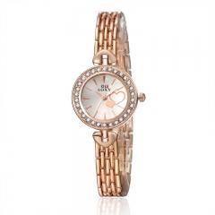 Rhinestone Watch Lady Watch Fashion Quartz Analog Golden Girl Watch no.1