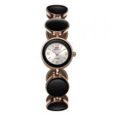 Nice Watch Women Watch Fashion Quartz Analog Golden Girl Watch black