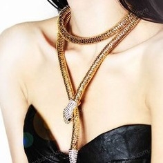 Fashion Snake Necklace,Lady Necklace Casual Gold Lady Necklace no.1 normal
