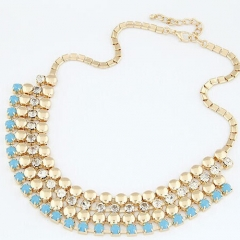 Rhinestone Alloy Necklace Beautiful Nice Lady Necklace,Gold Necklace no.1 normal