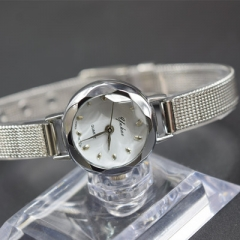 Beautiful Watch Lady Watch Fashion Quartz Analog Golden Watch silver