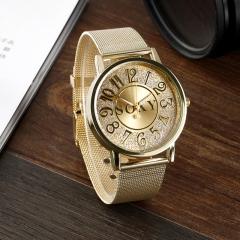 Beautiful Golden Watches Lady Watch Quartz Analog Watch Nice Women Watch gold