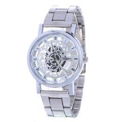 Stainless Steel Watch Lady Watch Quartz Analog Watch Business Watches silver