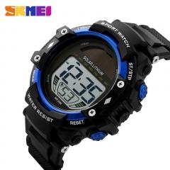 Solar Power Men Watches Multifunction LED Watch Waterproof Outdoor Sports Watch Man Watch Blue