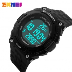 Digital Man Watch Lady Watch Fitness Multifunctional Outdoor Wristwatches LED Sports Watches black