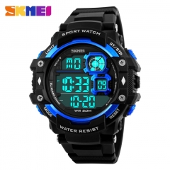 Men LED Digital Military Watch 50M Dive Swim Sports Watches Outdoor watches blue