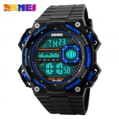 Men Watch Casual Watches Outdoor Waterproof Watch LED Digital Sports Watch blue