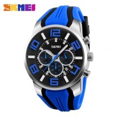 Watches Men Watch Casual Quartz Wristwatch Waterproof Male Watch Sports Watch blue