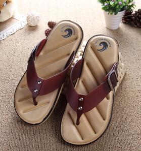 Hot Sale Brand Men Casual Flat Sandals,Leisure Flip Flops,EVA Massage Beach Slipper Shoes For Men Big Size 40-45