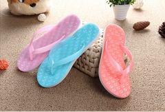 Plus Size New 2015 Sandals For Women Rubber Casual Fashion Slippers Summer Flip Flops Pink Jacinth Wathet Blue Shoes Size 36-40Crystal