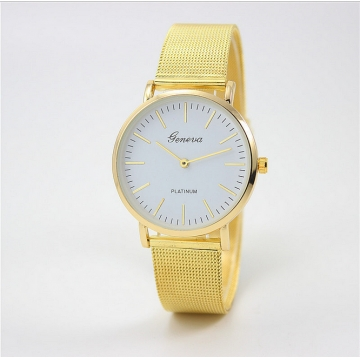 Mesh Belt Geneva Ladies Fashion Watch Business Leisure Style Golden Watch Kilimall Kenya