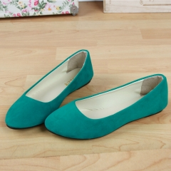 2016 Fashion women shoes solid candy color patent PU tip shoes Grass green 4