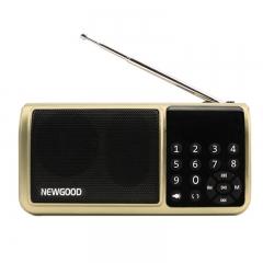 Mini Bluetooth Fm Radio Portable Digital Sd receiver Aux TF USB Mp3 Player Flash drive FlashLight