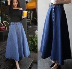 Long skirt dark blue xl