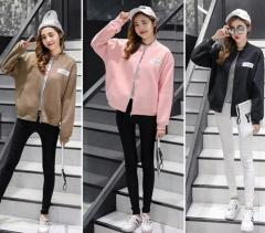 Women's causal jacket fashion sportwear black m