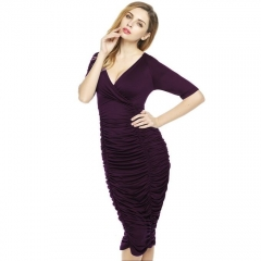 Fashion Women's Large Size Sexy Lace Flouncing Stitching Soild O-neck Full Length Female Dresses picture color s
