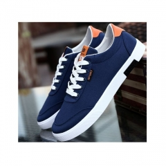 Men Casual Shoes Men's Flat Breathable Men's Fashion Classic Shoes For Men Canvas Shoes blue 42