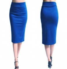 Skirt Midi Women Sexy Slim Work Officepencil Skirt New Bandage Skirt Women Knee blue s