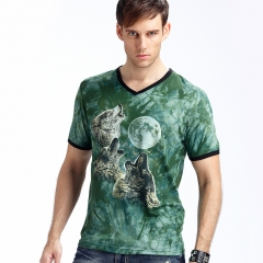 New Stylish Dolphins Print T-shirt Men/Women Brand Tshirt Fashion 3d T Shirt Summer Tops Tees green xl