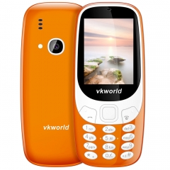 Vkworld Z3310 Quad Band Unlocked Phone 2.4 inch 3D Arc Screen Spreadtrum 6531 Bluetooth 2.0MP Camera orange