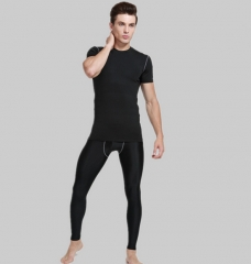 Men 's sports quick - drying stretch fitness package black m