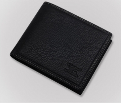 First layer cowhide business wallet black one size
