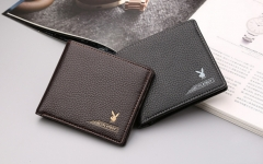 Valentine's Day Gift-Men 's short section of the first layer of ultra - thin business wallet black one size