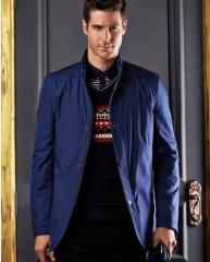 Jacket Men 's Fashion Men' s Casual Jacket Stand collar men's jacket blue m