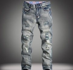 Men's straight jeans men's jeans Worn to do the old influx of pants as the picture 28