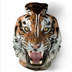 Hot tiger 3D digital printing hooded sweater sets of sweaters as the picture m