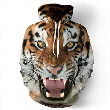 Hot tiger 3D digital printing hooded sweater sets of sweaters as the picture l